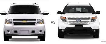 ford explorer vs chevy tahoe chevrolet suburban 1500 vs ford explorer