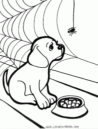 halloween dog coloring page coloring page