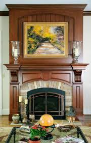 fireplace with stone inlay custom cabinetry by ken leech