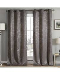 Duck River Window Curtains Get The Deal Duck River Maddie Metallic Blackout Grommet Pair