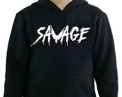savage hoodie etsy