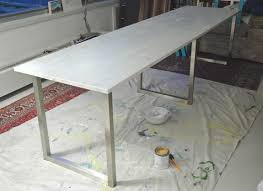 Diy Desk Legs Easy Diy Desk With Ikea Table Tops And Legs