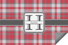 Personalized Outdoor Rugs Gray Plaid Indoor Outdoor Rug Personalized Youcustomizeit