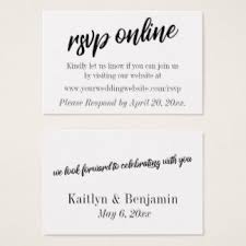 Wedding Rsvp Websites Wedding Website Rsvp Business Cards U0026 Templates Zazzle