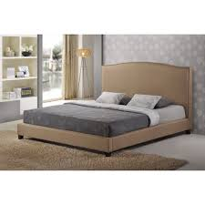 Fabric Platform Bed Aisling Beige Fabric Platform Bed C King Size See White