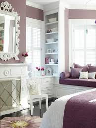 Feminine Bedroom Sleeping On A Soft Purple Orchid Flower Bed