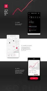 running app free ui kit 3 screens sketch free download freebiesui