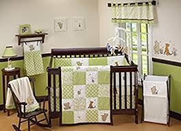 Crib Bedding Green Disney Baby My Friend Pooh 4 Nursery Crib