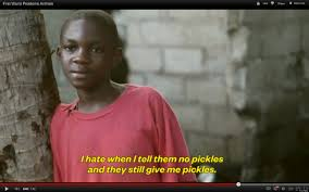Meme African Kid - first world problems read by third world kids ad caign makes