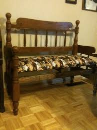 Bench Made From Bed Headboard 122 Best Bed Frames To Benches Images On Pinterest 3 4 Beds Bed