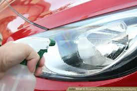 How To Spray Paint Your Car - how to brighten your car u0027s yellowing headlights 8 steps