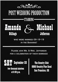 wedding reception invitation wording after ceremony 21 beautiful at home wedding reception invitations destination