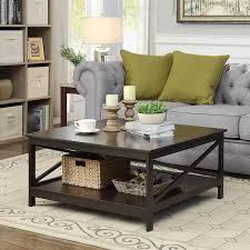 36 square coffee table convenience concepts oxford espresso 36 square coffee table