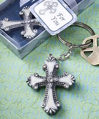keychain favors cross design keychain favors
