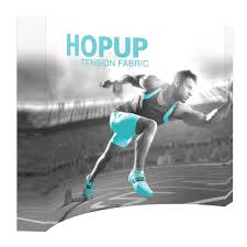 Blind Pole Vaulter Michael Stone 10 U0027 Tension Fabric Hopup Popup Trade Show Display W Graphics