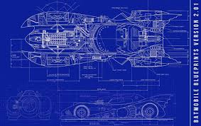 Wall Blueprints by Batmobile In Game Schematics 1989 Batmobile Blueprints