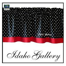 Curtains Black And Red Kitchen Glamorous Red And Black Kitchen Curtains Window Valances