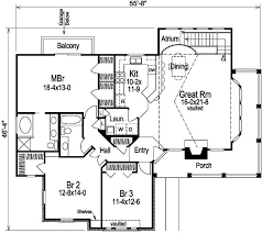 house plans with balcony 3 bedroom 2 bath country house plan alp 09f0 allplans