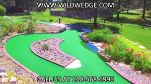 wildwedge 18 hole mini golf course pequot lakes minnesota youtube