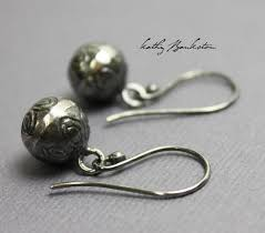 bell earrings with flowers sterling silver kathy bankston