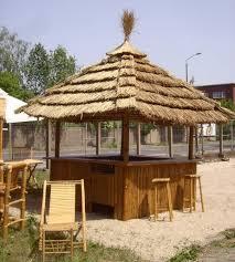 tiki bar 360 degree tropical kiosk with 8 bar stools u0026 thatch