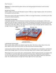 plate tectonics interactive assign