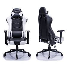 amazon com aminiture high back racing gaming chair recliner pu