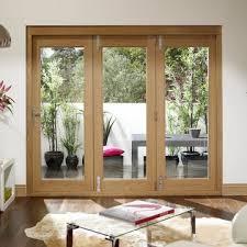 Oak Patio Doors La Porte Vista 3 Door Oak Folding Patio Door Set Opens Left