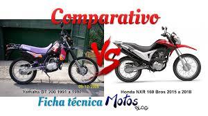 comparativo entre yamaha dt 200 1991 a 1997 e honda nxr 160 bros