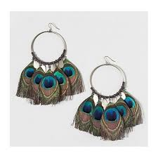 peacock feather earrings buy peacock feather earrings