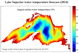 Map Of Lake Superior Superior May See Coldest Surface Water Since 1979