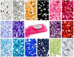 gems for table decorations 6mm table scatter mixed sizes crystals diamonds gems for wedding