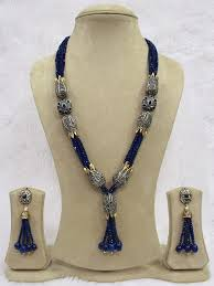 blue beads necklace images Babosasakhi high quality antique blue beads long string necklace jpg&a