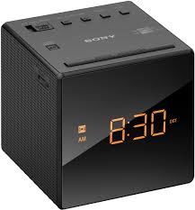 sony black clock radio icf c1black abt