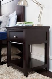 1 drawer nightstand espresso craft bedroom furniture