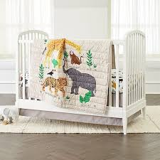 Crib Bedding Jungle Applique Jungle Animal Crib Bedding Crate And Barrel