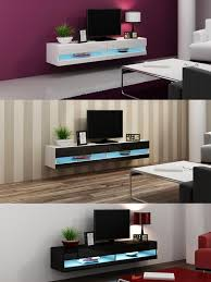 Tv Wall Units For Living Room High Gloss Tv Stand Cabinet With Led Lights Entertainment