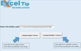 copy a range from each workbook in a folder using vba in microsoft