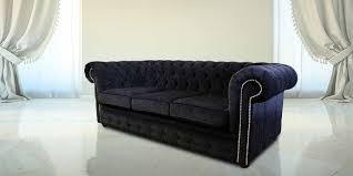 Chesterfield Black Sofa Black Velvet Chesterfield Sofa Bed 1025theparty