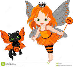 cute halloween kitten wallpaper cute halloween baby fairy and cat royalty free stock photography