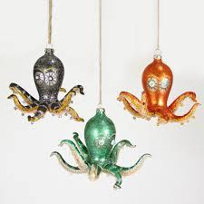 octopus ornaments set of 3 flippin steunk