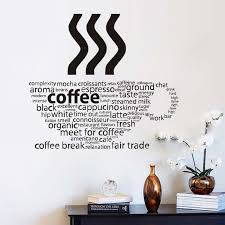 All Kind Letters Coffee Wall Sticker Coffee Cup Shop Restaurant