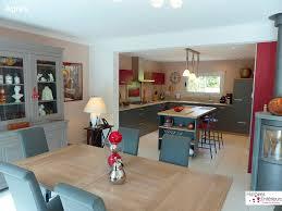 amenager cuisine salon 30m2 bar séparation cuisine séjour cuisine en image