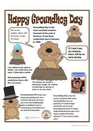 8 free esl groundhog worksheets