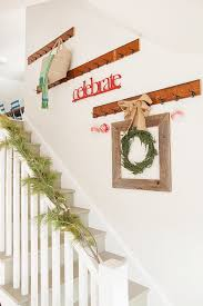 Christmas Railing Decorations Christmas Staircase Decorating With Cheerful Decorative Features