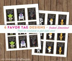 Star Wars Room Decor Etsy by Star Wars Favor Tags Printable Sticker May The Force Be With