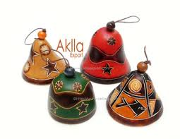 bell ornaments for tree in peruvian carved gourd buy