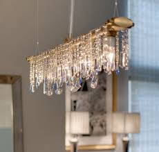 Rectangular Chandeliers Dining Room Dining Room Unique Cellula Chandelier With Crystal Bulb For