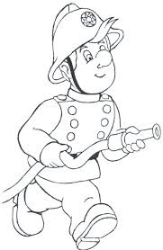firefighter and dog coloring pages fire fighter free