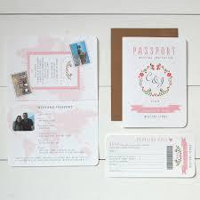 Wedding Invitation Rsvp Cards Floral U0027 Passport To Love Wedding Invitation And Rsvp By Ditsy Chic